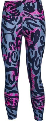 Under Armour HG Armour Print 7/8 Womens Leggings Mineral Blue/Midnight Navy S