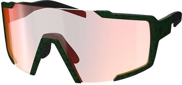 Scott Shield Iris Green/Red Chrome