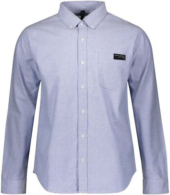 Scott Men's 10 Casual L/SL Blue Oxford M