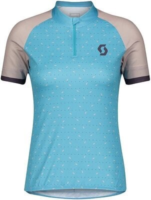 Scott Women's Endurance 30 S/SL Breeze Blue/Blush Pink XL