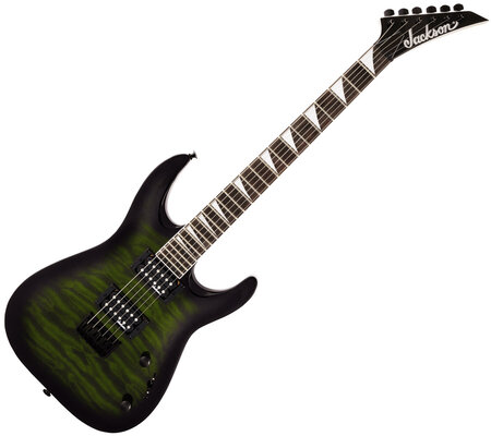 Jackson JS Series Dinky Arch Top JS32Q DKA HT AH Transparent Green Burst