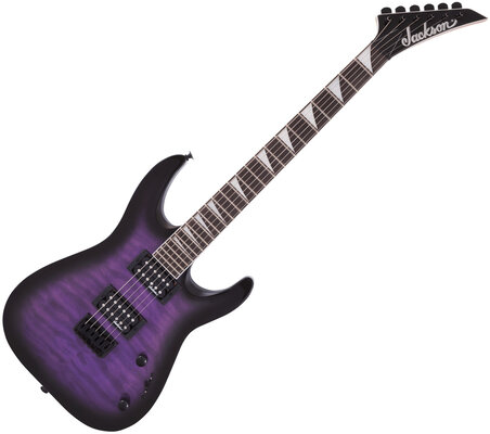 Jackson JS Series Dinky Arch Top JS32Q DKA HT AH Transparent Purple Burst