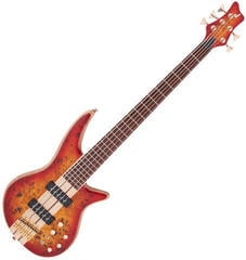 Jackson Pro Series Spectra Bass SB V Poplar Burl Caramelized JA Transparent Cherry Burst