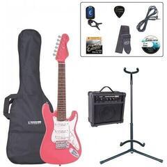Encore EBP-E375PK 3/4 Size Electric Guitar Outfit Pink