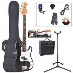 Encore EBP-E20BLK 7/8 Bass Guitar Outfit Gloss Black