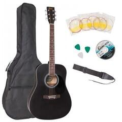 Encore EWP-100BK Acoustic Guitar Outfit Black