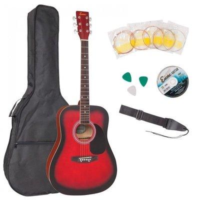 Encore EWP-100RB Acoustic Guitar Outfit Redburst