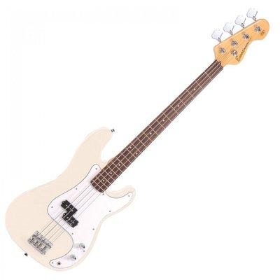 Encore E4VW Bass Guitar Vintage White