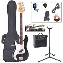 Encore EBP-LHE4BLK Bass Guitar Left Hand Outfit Black (B-Stock) #921057