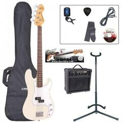 Encore EBP-E4VW Bass Guitar Outfit Vintage White