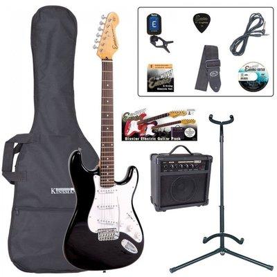 Encore EBP-E6BLK Electric Guitar Outfit Gloss Black