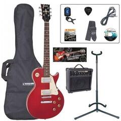 Encore EBP-E99WR Electric Guitar Outfit Wine Red