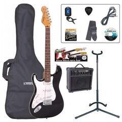 Encore EBP-LHE6BLK Electric Guitar Outfit Gloss Black LH