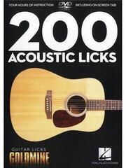 Hal Leonard 200 Acoustic Licks - Guitar Licks Goldmine