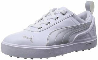 Puma MonoliteMini Junior Scarpe da Golf White/Silver UK 4