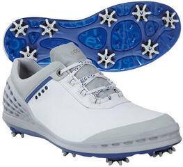 Ecco Cage Pro Mens Golf Shoes White/Royal