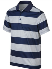 Nike Bold Stripe Boys Polo Shirt Midnight Navy/Midnight Navy/Black