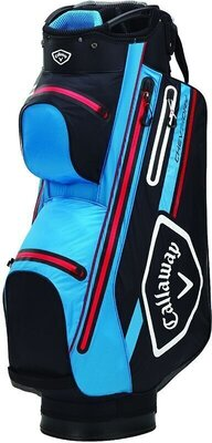 Callaway Chev 14 Dry Cart Bag Black/Cyan/Red
