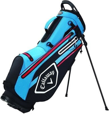 Callaway Chev Dry Stand Bag Black/Cyan/Fire Red