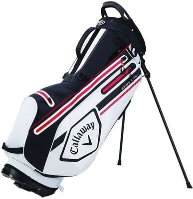Callaway Chev Dry Stand Bag White/Black/Fire Red
