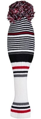 Callaway Pom Pom Driver Head Cover White/Black/Charcoal/Red