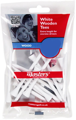 Masters Golf Supa Wood Tees 100 mm White 12 pcs