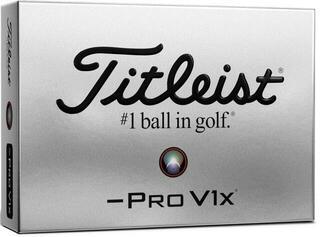 Titleist Pro V1x 2021 Golf Balls White Left Dash