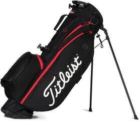 Titleist Players 4 Stand Bag Black/Black/Red