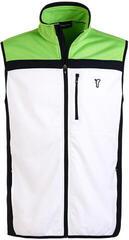 Golfino Techno Fleece Mens Vest Optic White