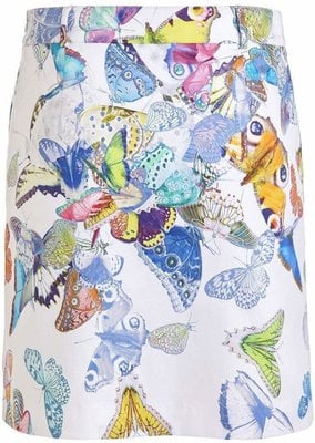 Golfino Butterfly Printed Stretch Womens Skort White 38