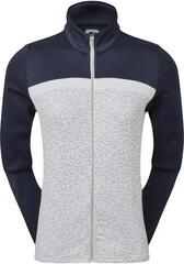 Footjoy Full-Zip Curved Clr Block Midlayer Womens Grey/Navy/White L