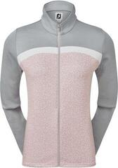 Footjoy Full-Zip Curved Clr Block Midlayer Womens