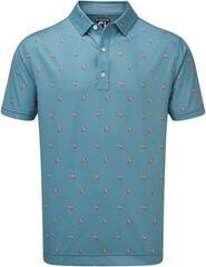 Footjoy Lisle Cocktail Print Mens Polo Shirt