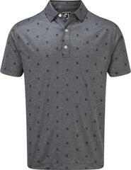 Footjoy Smooth Pique FJ Tonal Print Mens Polo Shirt