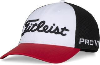 Titleist Tour Performance Mesh Mens Cap Black/Red/White