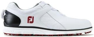 Footjoy Pro SL BOA Férfi Golf Cipők White/Black/Red US 11