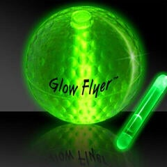 Masters Golf Glow Flyer - Golf Ball Green