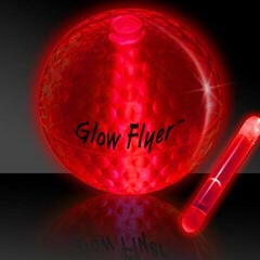Masters Golf Glow Flyer - Golf Ball Red