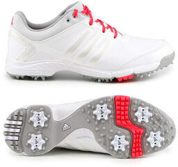Adidas Adipower Tour Mens Golf Shoes White/Metallic/Shock Red