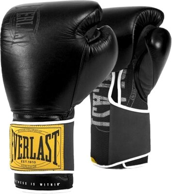Everlast 1910 Classic Gloves Black 14 oz