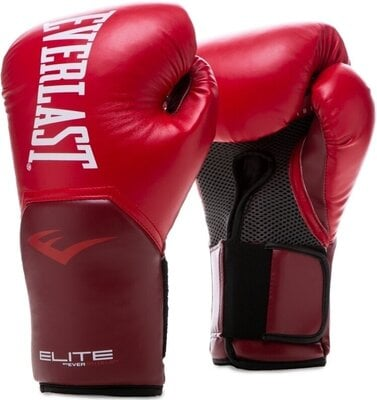 Everlast Pro Style Elite Gloves Flame Red 12 oz