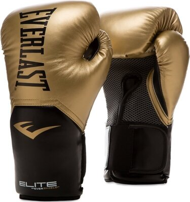 Everlast Pro Style Elite Gloves Gold 12 oz