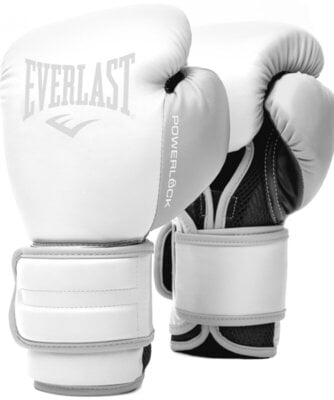 Everlast Powerlock 2R Training Gloves White 14 oz