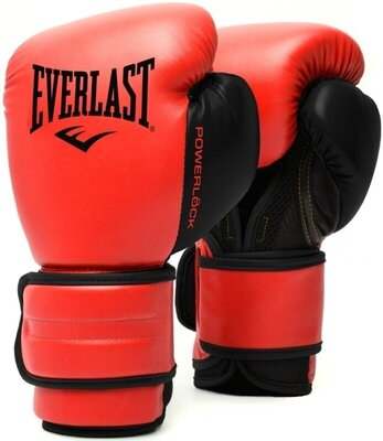 Everlast Powerlock 2R Training Gloves Red 12 oz