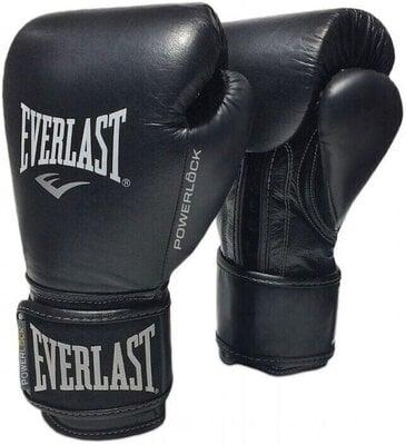 Everlast Powerlock Pro Hook and Loop Training Gloves Black 12 oz