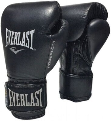 Everlast Powerlock Pro Hook and Loop Training Gloves Black 14 oz