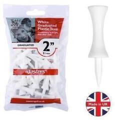 Masters Golf Plastic Graduated Tees 2 Inch White 25 pcs