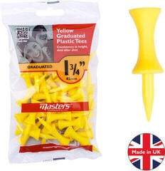 Masters Golf Plastic Graduated Tees 1 3/4 Inch Yellow 30 pcs