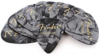 Fender Black Moto 351 Shape Picks Medium 12 Pack