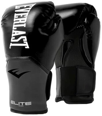 Everlast Pro Style Elite Gloves Black/Grey 12 oz